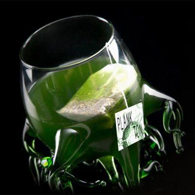 100% Chef - 100% Chef Algas Ayaklı Cam Kupa, 250 ml, Yeşil (1)