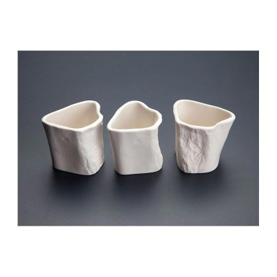 100% Chef - 100% Chef Bone Terrine Porselen Sunum Kalıbı, 50 ml, 3 Adet (1)