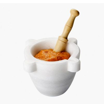 100% Chef - 100% Chef Geleneksel Mermer Havan, Beyaz (1)
