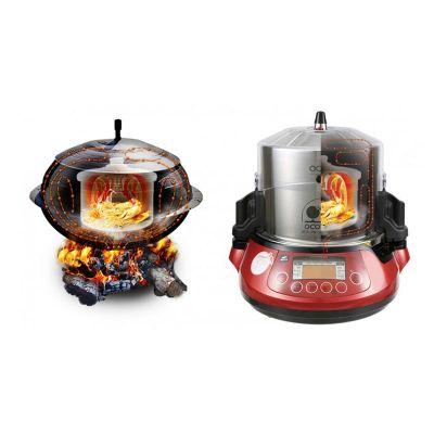 100% Chef - 100% Chef Ocoo Pro Otomatik Çift Düdüklü Tencere, 3.5 L, Kırmızı (1)
