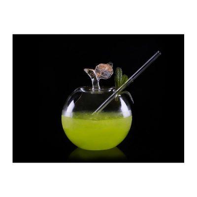 100% Chef - 100% Chef Pipetli Elma Cam Kokteyl Bardağı, 250 ml (1)