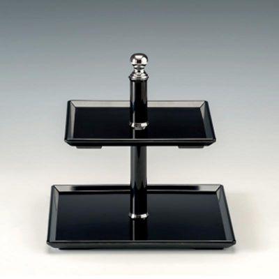 Zicco Teşhir Standı, Melamin, 20x20-25x25, h:23 cm, Siyah