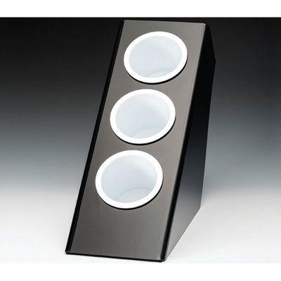 Zicco Kahve-Çay Kaşığı Standı, 3 Gözlü, Polikarbon, 20.8x41.5x h:41 cm, Siyah