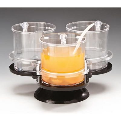Zicco Sosluk Reçellik Standı, 3'lü, Döner, Polikarbon, 1.5 L, 36x36x h:23 cm