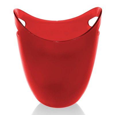 Biradlı Akrilik Şişe Kovası, 22.2x21.6x26.6 cm, Kırmızı
