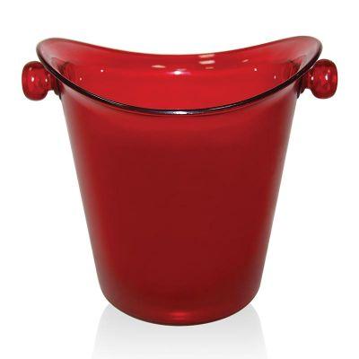 Biradlı Akrilik Şişe Kovası, 27x15.5x23 cm, Kırmızı