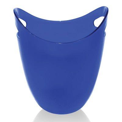 Biradlı Akrilik Şişe Kovası, 22.2x21.6x26.6 cm, Mavi