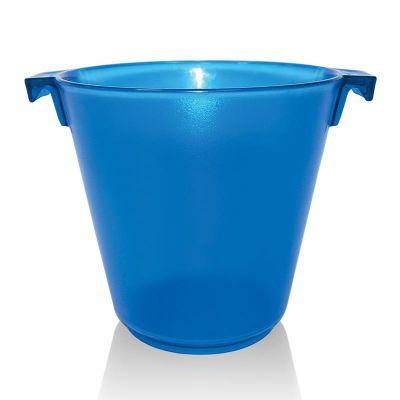 Biradlı Akrilik Şişe Kovası, 28x23x23 cm, Mavi