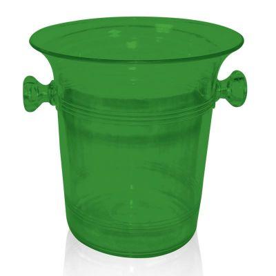 Biradlı Akrilik Şişe Kovası, 21x21.5 cm, Yeşil