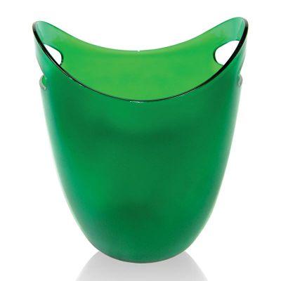 Biradlı Akrilik Şişe Kovası, 22.2x21.6x26.6 cm, Yeşil