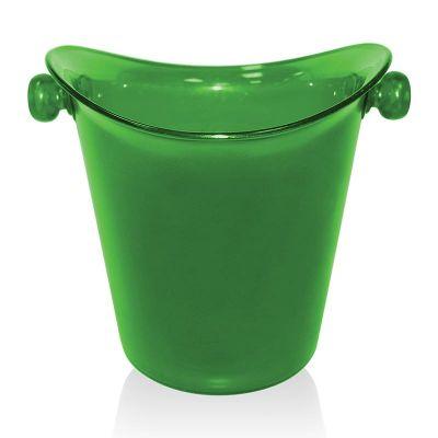 Biradlı Akrilik Şişe Kovası, 27x15.5x23 cm, Yeşil