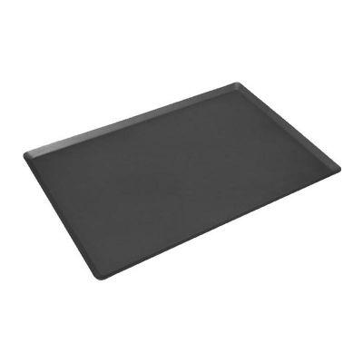 Almetal İtalyan Açılı Tava, Alüminyum, 2 mm, 60x80 cm, Kaplamalı, Siyah