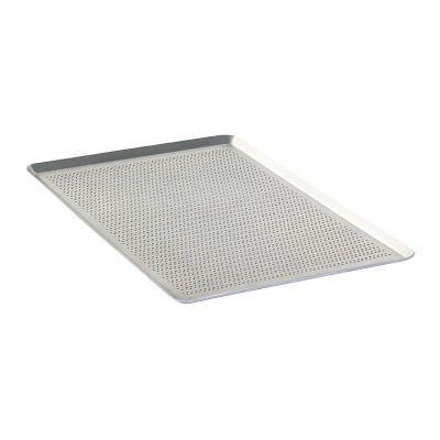 Almetal İtalyan Açılı Tava, Alüminyum, Delikli, 2 mm, 40x60x1 cm