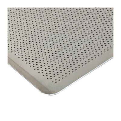 Almetal İtalyan Açılı Tava, Alüminyum, Delikli, 2 mm, 40x80x1 cm