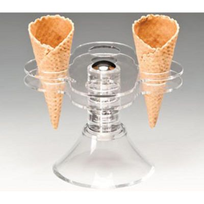 Zicco Dondurma Servis Standı, Ayaklı, Akrilik, 13.5x13.5x h:11.5 cm