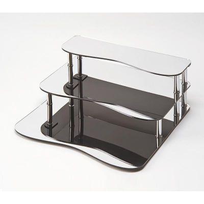 Zicco Aynalı Merdiven Stand, Akrilik, 58x60x22 cm