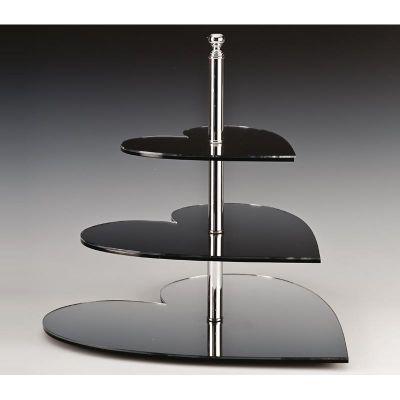 Zicco Kalp Teşhir Standı, Aynalı, 3'lü, Ø 20-30-40x h:45 cm