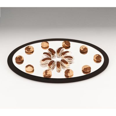 Zicco Oval Teşhir Standı, Aynalı, 40x60 cm
