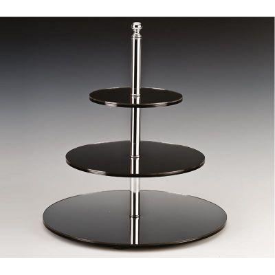 Zicco Yuvarlak Teşhir Standı, Aynalı, 3 Katlı, Ø 20-30-40x h:45 cm