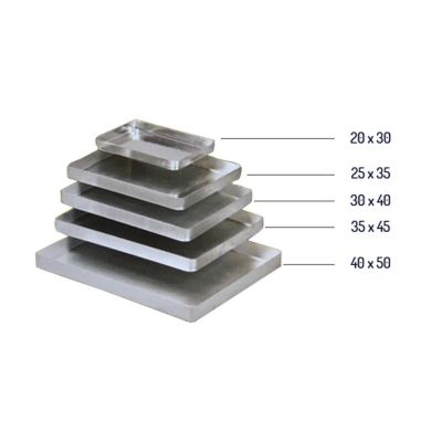 Almetal Baklava Tepsisi, Köşeli, 800 gr, Kalın, Alüminyum, 35x45x4 cm