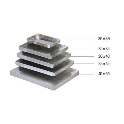 Almetal Baklava Tepsisi, Köşeli, Kalın, Alüminyum, 25x35x3.5 cm