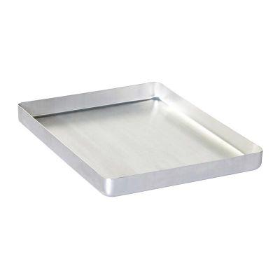 Al Metal Baklava Tepsisi, Köşeli, İnce, Tek Kullanımlık, 20x30x3 cm