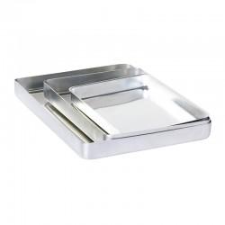 Almetal Baklava Tepsisi, Köşeli, İnce, Tek Kullanımlık, 20x30x3 cm - Thumbnail