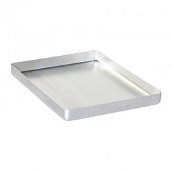 Almetal Baklava Tepsisi, Köşeli, İnce, Tek Kullanımlık, 30x40x4 cm - Thumbnail