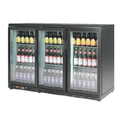 By Kitchen Bar Arkası Şişe Soğutucu Dolap, Üç Kapılı, 1350x570x895 mm