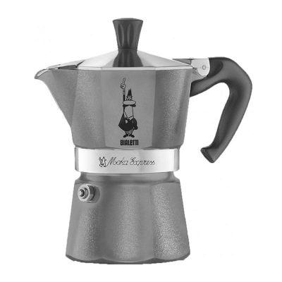 Bialetti Moka Pot, 6 Cup, Gri