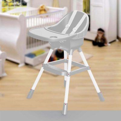 Biradlı Bebek Mama Sandalyesi, Ekonomik, Taşıma Kapasitesi 15 kg, Gri