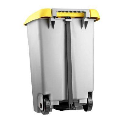 Bora Plastik - Bora Plastik Çöp Kovası, Pedallı, 80 L, Gri (1)
