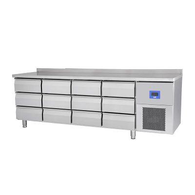Öztiryakiler TA 460 NMV Buzdolabı, 12 Çekmeceli, Yatay Tezgah Tip