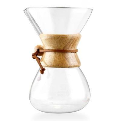 Cafemarkt Chemex, Ahşap Tutacaklı, 600 ml, 4 Bardak