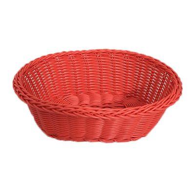 Cafemarkt Oval Ekmek Sepeti, İnce, Plastik, 24x17x7 cm, Kırmızı