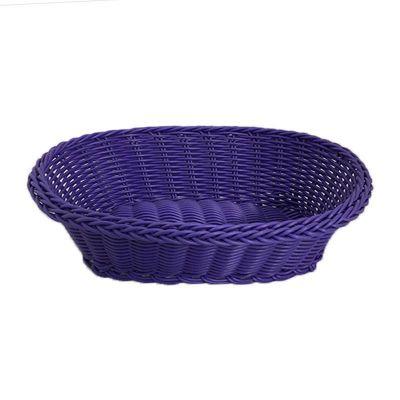 Cafemarkt Oval Ekmek Sepeti, İnce, Plastik, 24x17x7 cm, Mor