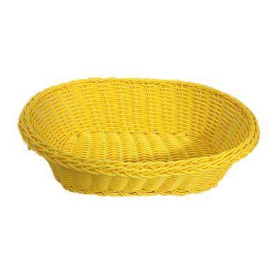 Cafemarkt Oval Ekmek Sepeti, İnce, Plastik, 24x17x7 cm, Sarı