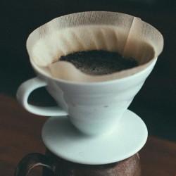 Cafemarkt V60 Dripper, Seramik, Beyaz - Thumbnail