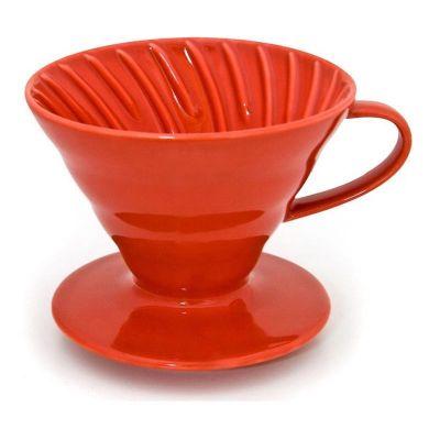 Cafemarkt V60 Dripper, Seramik, Kırmızı