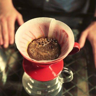 Cafemarkt - Cafemarkt V60 Dripper, Seramik, Kırmızı (1)