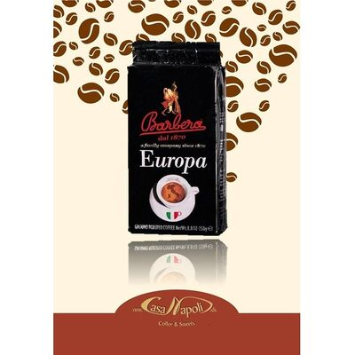 Caffe Barbera - Caffe Barbera Europa Öğütülmüş Filtre Kahve, 250 gr (1)