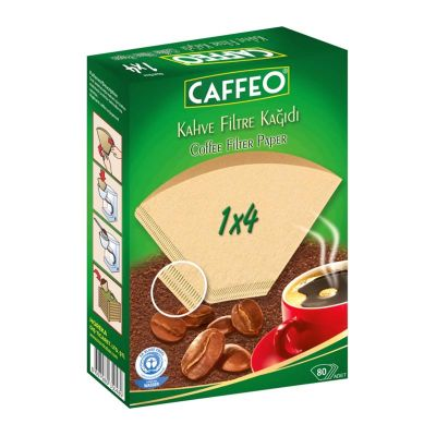 Caffeo 1x4 Kahve Filtre Kağıdı, 80 Adet