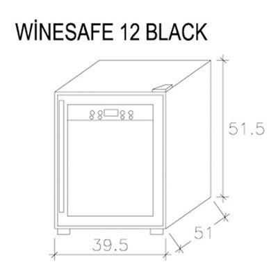 Caso - Caso 624 Wine Safe, 12 Şaraplık, Black (1)