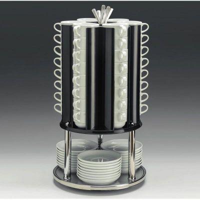 Zicco Tabak Fincan Kaşık Standı, Metal Altlı, Döner, Ø 30x h: 55 cm