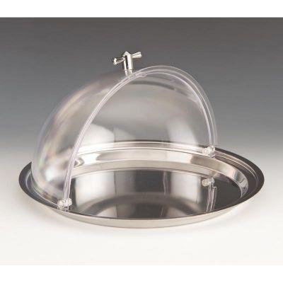Zicco Yuvarlak Fanus, Çelik Altlı, Rolltop Polikarbon Kapaklı, 32.5 cm
