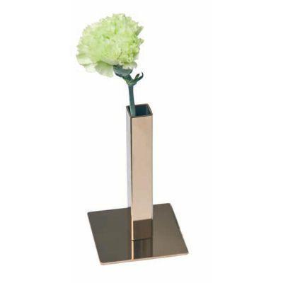 Biradlı Karanfillik, Çelik, Kare, 13 cm, Altın