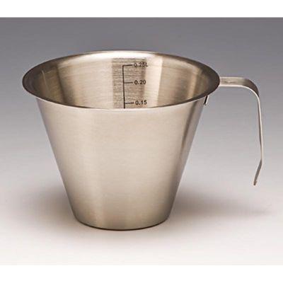 Zicco Sıvı Ölçek, Çelik, 250 ml