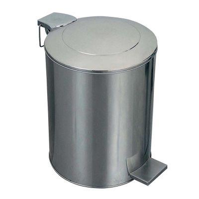 Öztiryakiler Çöp Kovası, Pedallı, Paslanmaz, Endüstriyel Tip, 54 L