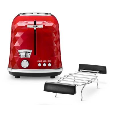 Delonghi CTJ2103 Briallante Ekmek Kızartma Makinesi, Kırmızı