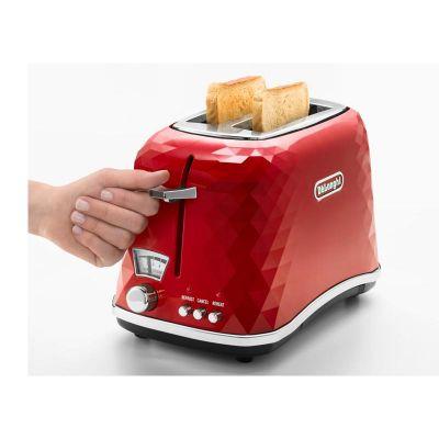 Delonghi - Delonghi CTJ2103 Briallante Ekmek Kızartma Makinesi, Kırmızı (1)